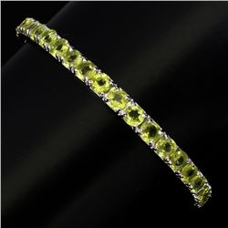 Natural  Round 5mm Top Rich Green Peridot Bangle