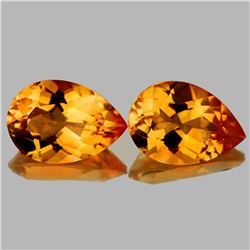 NATURAL INTENSE GOLDEN YELLOW CITRINE PAIR
