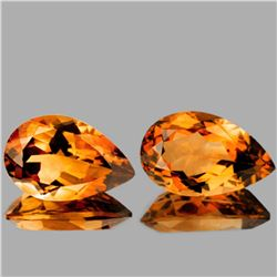 Natural Golden Orange Citrine 13x8 MM {Flawless-VVS1}