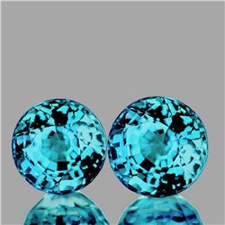 Natural AAA Blue Zircon Pair 6.50 MM - FL
