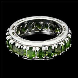 Natural Unheated Oval Green Chrome Diopside Ring