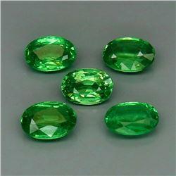 Natural Green Tsavorite Garnet Tanzania 5Pcs/2.76Ct