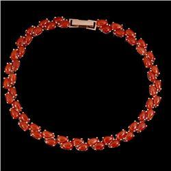 Natural Italian Red Coral Bracelet