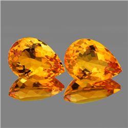 Natural Golden Orange Citrine Pair [Flawless-VVS]