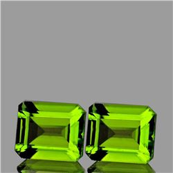 Natural AAA Green Peridot Pair {Flawless-VVS1}