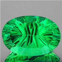 Natural Emerald Green Fluorite 23.97 Ct {Flawless-VVS}