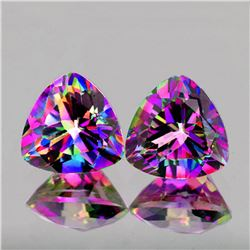 Natural AAA Pinkish Purple Mystic Topaz Pair - Flawless
