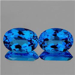 NATURAL AAA INTENSE SWISS BLUE TOPAZ PAIR