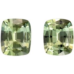 Natural Light Green Tea Amethyst Pair 26.75 Ct - FL