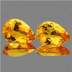 Natural Golden Yellow Citrine Pair [Flawless-VVS]