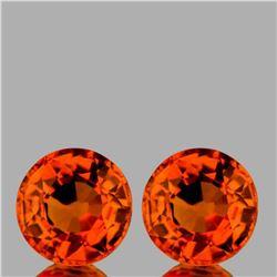 Natural Intense Orange Sapphire Pair [VVS]