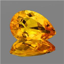 Natural Golden Orange Citrine 16x11 MM [Flawless-VVS]