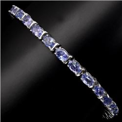 Natural Oval 6x4 mm  Blue Violet Tanzanite Bracelet