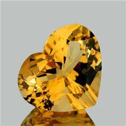 NATURAL BRILLIANT GOLDEN ORANGE CITRINE 11 MM