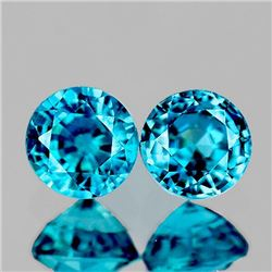Natural Extreme Brilliancy Blue Zircon Pair [If-VVS]