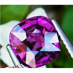 NATURAL PURPLE CUSHION RHODOLITE GARNET 3.30 CT