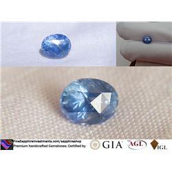 Vivid blue Sapphire, Ceylon, handcrafted | GIA 3.19 ct