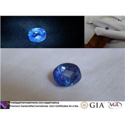 Vivid Cornflower Blue Sapphire, handcrafted 2.12 ct