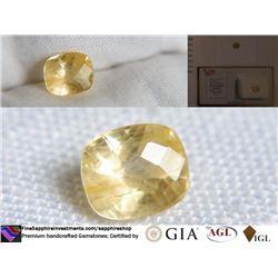 Uncommon Sunshine Yellow Sapphire | GIA 1.88 ct