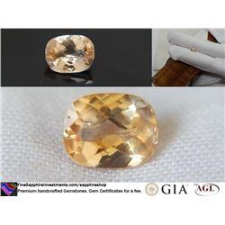 vivid orange Sapphire unheated prime cut GIA 1.16 ct
