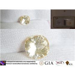 Yellow Sapphire, unheated, premium cut | AGL 2.16 ct