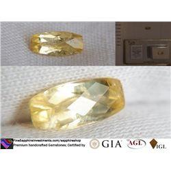 Yellow Sapphire, unheated, premium cut | AGL 1.65 ct