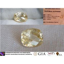 Yellow Sapphire, unheated, premium cut | IGL 1.863 ct