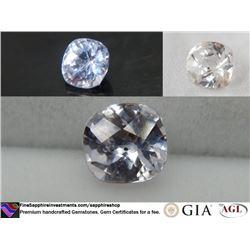 Vivid Silver/Pink handcrafted Ceylon Sapphire 1.66 ct