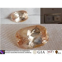 Peach Sapphire, unheated, premium cut | AGL 2.36 ct