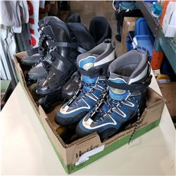 3 PAIRS OF ROLLER BLADES - SIZE 9, SIZE 7 AND UNMARKED
