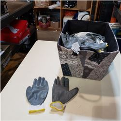 BASKET OF NEW RUBBERIZED SIZE 8 WORK GLOVES