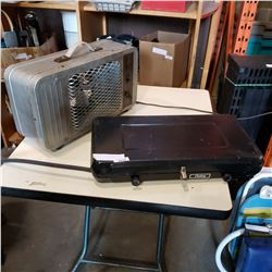CAMP STOVE AND ELECTRIC HEATER
