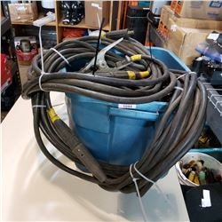TOTE OF HEAVY DUTY WELDING CABLES