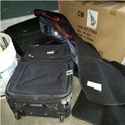 LUGGAGE BAGS, RIFFLE BAG, DUFFLE BAG, AND FLOOR MATS