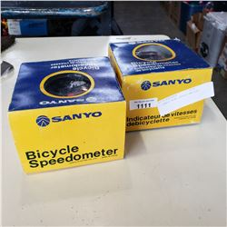 2 SANYO BIKE SPEED OMETERS