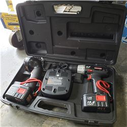 CRAFTSMAN 15.6 DRILL, FLASHLIGHT AND CHARGER SET