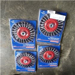 4 NEW WESTWARD KNOTTED WIRE WHEEL BRUSHES
