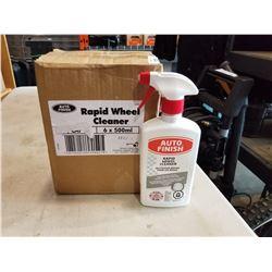 BOX OF AUTO FINISH RAPID WHEEL CLEANER