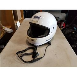 SHOEI MOTORCYCLE HELMET W/ MICROPHONE