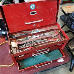 RED VIKING TOOL SET W/ CRAFTSMAN AND OTHER TOOLS