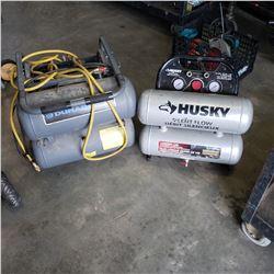 DURABRAND AND HUSKY AIR COMPRESSOR - HUSKY AIR COMPRESS AS IS
