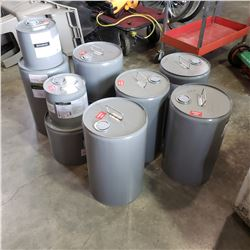 LOT OF METAL CONTAINERS