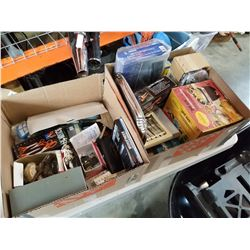 2 BOXES OF KITCHEN ITEMS AND ESTATE GOODS