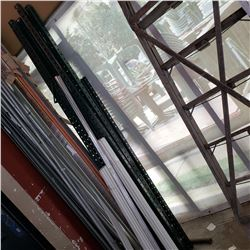 LOT OF METAL BEAMS AND POLES