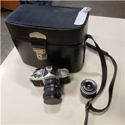 SOLIGAR TM CAMERA IN CASE W/ LENSES AND ACCESSORIES