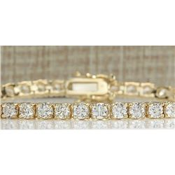 6.60 CTW Natural Diamond Bracelet In 18K Solid Yellow Gold