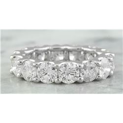 6.30 CTW Diamond 18K White Gold Ring