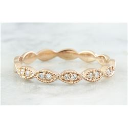 0.15 CTW Diamond 18K Rose Gold Ring