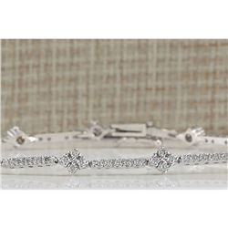 1.50 CTW Natural Diamond Bracelet In 14K White Gold