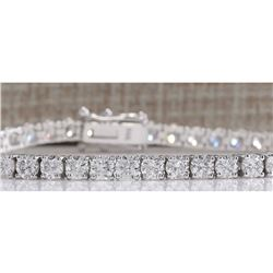 7.35 CTW Natural Diamond Bracelet In 18K White Gold